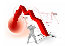 Global Economic Downturn Stock Images