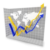 Global economic rebound Stock Image