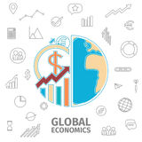 Global Economics Concept Royalty Free Stock Photography