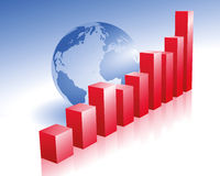 Global economy. Illustration of global economy and foreign operations