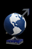 Global Economy. Globe of earth, meaning the rising of global economy - bull market Royalty Free Stock Image