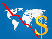 Global Economy Crisis Dollar Royalty Free Stock Images
