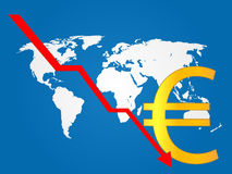 Global Economy Crisis Euro Royalty Free Stock Photography