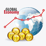 Global economy design. Stock Images