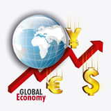Global economy design. Royalty Free Stock Photos