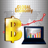 Global economy design. Royalty Free Stock Photo