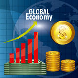 Global economy design. Stock Photography