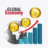 Global economy design. Royalty Free Stock Photography