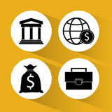 Global economy design. Global economy concept and business icons design, vector illustration 10 eps graphic Stock Photo