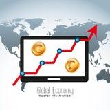 Global economy design. Global ecomomy design,  illustration eps10 graphic Stock Image