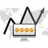 Global economy design. Global ecomomy design,  illustration eps10 graphic Stock Photos