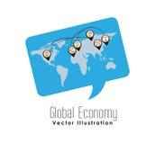 global economy design Royalty Free Stock Photography