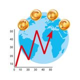 Global economy design Royalty Free Stock Images