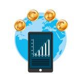 Global economy design. Global ecomomy design,  illustration eps10 graphic Stock Images