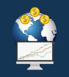 Global economy design. Global ecomomy design,  illustration eps10 graphic Royalty Free Stock Photos