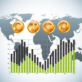Global economy design Stock Images