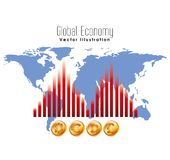 Global economy design Royalty Free Stock Photography