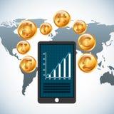 Global economy design Stock Photos