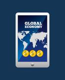Global economy design. Global ecomomy design,  illustration eps10 graphic Stock Photography