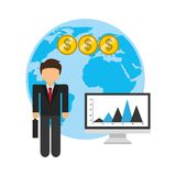 Global economy design. Global ecomomy design,  illustration eps10 graphic Royalty Free Stock Image