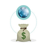 Global economy design, financial and money concept. Global economy concept with icon design, vector illustration 10 eps graphic Royalty Free Stock Photos