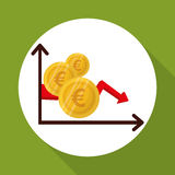 Global economy design, financial and money concept. Global economy concept with icon design, vector illustration 10 eps graphic Royalty Free Stock Image