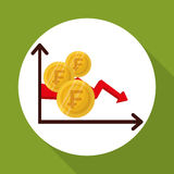 Global economy design, financial and money concept. Global economy concept with icon design, vector illustration 10 eps graphic Stock Photography