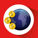 Global economy design Royalty Free Stock Photos