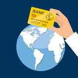 Global economy design. Illustration eps10 graphic Royalty Free Stock Photo
