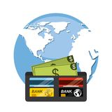 Global economy design. Illustration eps10 graphic Stock Images