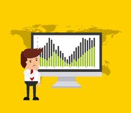 Global economy design Royalty Free Stock Image