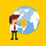 Global economy design. Illustration eps10 graphic Royalty Free Stock Photos