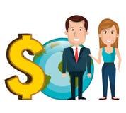 Global economy design. Illustration eps10 graphic Royalty Free Stock Photography