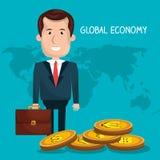 Global economy design Stock Photography