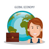 Global economy design. Illustration eps10 graphic Stock Image