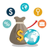 Global economy design. Illustration eps10 graphic Stock Photo