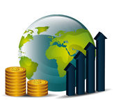 Global economy design, Royalty Free Stock Image