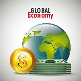 Global economy design, Stock Photography