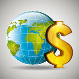Global economy design, Royalty Free Stock Photography