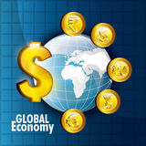 Global economy design, Stock Image