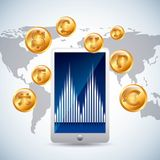 Global economy. Design, vector illustration eps10 graphic Stock Images