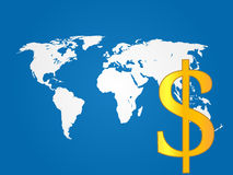 Global Economy Dollar Royalty Free Stock Photography