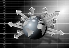 Global economy growth Royalty Free Stock Images