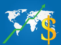 Global Economy Growth Dollar Royalty Free Stock Photography