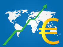 Global Economy Growth Euro Stock Photos
