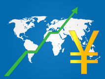 Global Economy Growth Yen Royalty Free Stock Images