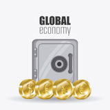 Global economy, money and business design. Stock Photos