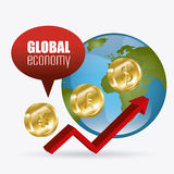 Global economy, money and business design. Royalty Free Stock Photos