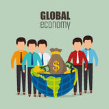 Global economy,money and business Royalty Free Stock Image