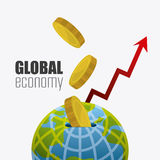 Global economy, money and business Royalty Free Stock Images